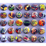 "HORROR PULP COMICS BADGES x 30 Buttons Wholesale Bulk Lot 25mm One Inch 1"""