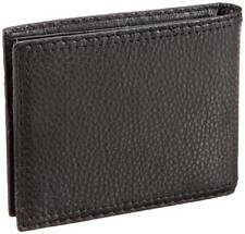 NEW LEVI'S MEN'S SOFT LEATHER CREDIT CARD ID WALLET BILLFOLD BLACK 31LV1344