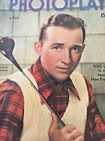 Vintage Collectible Movie Magazine Photoplay March 1947 Bing Crosby Cover Clean