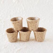 5x Stoneware Hexagonal Flower Pot Dollhouse Miniature Fairy Garden Supply Deco