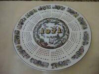 Wedgwood Collectors Calendar Plate 1971 Cherubs
