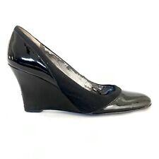 "ELLEN TRACY ""Glory"" Patent Leather Slip On Wedge Sz 8M"