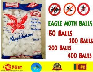 Napthalene Balls Pest Control Moth Balls Repellent Camphor Balls 50,100,200,400
