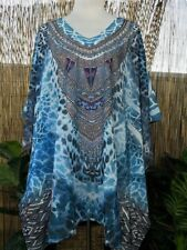 Plus Size Sheer Chiffon Embellished Kaftan One Size Fits All 12-14-16-18-20-22