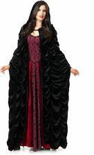 Coffin Cloak Velvet Halloween Costume Victorian Witch Cape Accessory Adult Women