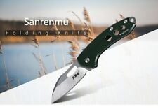 Compact HQ Mini Sanrenmu 4108  Pocket folding Knife 4.8cm Blade no lock w/ clip