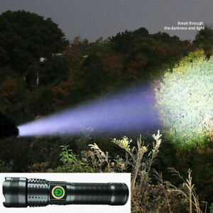 Rechargeable 1000000 lumens P70 most powerful LED Flashlight USB Zoom torch