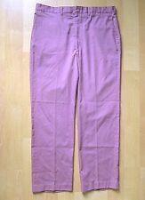 Vtg 80s New Wave Mauve Purple Flat Front Twill Dress Pants Straight Leg 38W