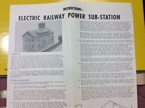 HO Scale Electric Power Sub-Station Building Kit Matte Board by Suydam