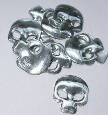 SKULL silver  iron-on hot-fix Nailheads beads appliques