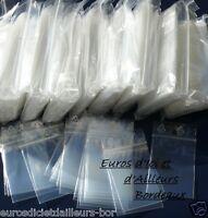 1000 sacs zip 4x6cm  Pour tous formats de pièces courantes  Idéal revendeurs