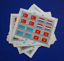 United Nations - 1980 to 1989 Flag Series MNH 40 Sheet Collection