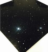 Black Starlight Stardust quartz miroir Fleck Mosaïques feuille carrelage Splashback
