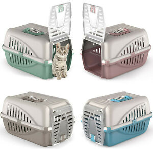 Pet Cat Puppy Carrier - Portable Large Front Car Travel Box Vet Carrying Case