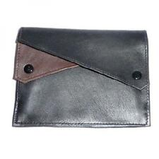 Dr Plumb Leather Wallet Style Black & Brown Double Button Pocket Tobacco Pouch