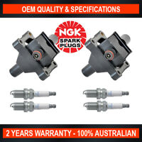 2x Swan Ignition Coil w/ 4x NGK Spark Plugs for Mercedes Benz E200 230 MB100 140