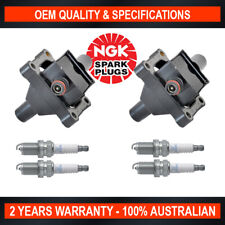 2x Ignition Coil w/ 4x NGK Spark Plugs for Mercedes Benz C180 C200 SLK200 E200