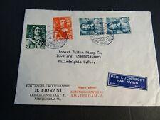 Nederland 413, 418, 420 2x op brief pzh Fiorani Amsterdam - Philadelphia 1945