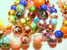 50pc Drawbench Round Opaque Glass Beads - Assorted Mix Colour Lot 6mm (GD621)