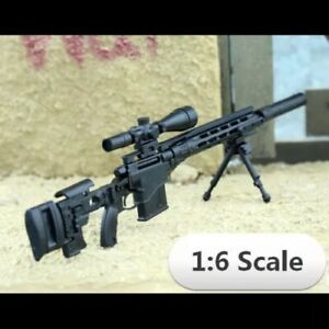 "1/6 Scale MSR Sniper Rifle Gun Weapon Military For 12"" Action Figure Soldier UK"