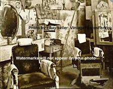 Vintage Old Antique 1936 Atlanta Georgia Barber Shop Chair Haircut Photo Picture