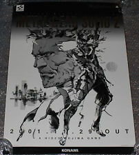 ULTRA RARE Metal Gear Solid 2: Sons of Liberty PS2 Promo Poster Playstation PSX