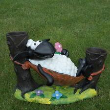 Schaf Molly in Hängematte,zum Bepflanzen, Tierfigur Deko Garten Terrasse