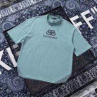 0Balenciaga Unisex Men Women casual Lock T shirt short sleeve Top