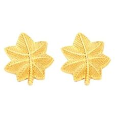 Major LCDR Oak Leaf Pin Set Rank Insignia Police Military Gold Plated 4427G New