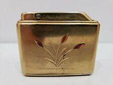 Ibelo Colibri S23 Monogas Lighter, GOLD TONE & FLOWER