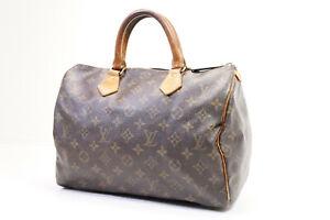 Auth Pre-owned Louis Vuitton Monogram Speedy 30 Hand Bag M41526 M41108 210222