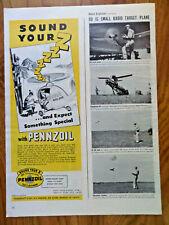 1945 Pennzoil Oil Ad   Joe's Alpine Diner