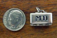 Vintage silver WELLS MOVABLE M.D. OB GYN MEDICAL DOCTOR BAG BABY charm RARE