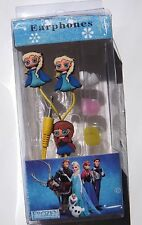 Frozen Disney Characters 2 Sets One Anna One Elsa Earbuds for iPads Smartphones