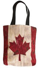 BELGIAN TAPESTRY SHOPPING TOTE OPEN TOP BAG 38CM X 34CM, CANADA MAPLE LEAF