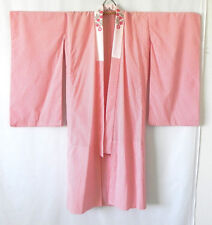 Vtg Handmade Kimono Robe/Cover-Up Hand Sewing Red/White Embroidery Trim Size S/M