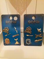 HARRY POTTER House Pin Badge Set - Ravenclaw Gryffindor Metal/Enamel Primark