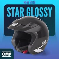 NEW 2018 Open Helmet OMP STAR BLACK GLOSSY S 55 56 cm ABS Rally Race LIMITED EDT