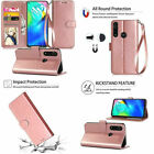 For Motorola Moto G Power 2020 Wallet Case PU Leather Card Slots Cover Rose Gold