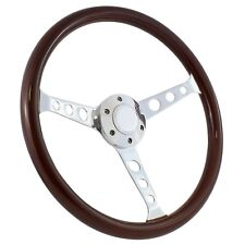 "68-69 Chevy/gmc Van 15"" Wood Billet Polished Steering Wheel Set Adapter & Horn"