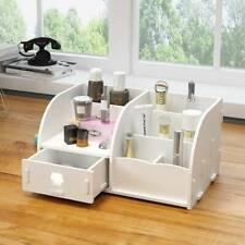 Cosmetic Make Up Makeup Drawer Pen Desk Tidy Storage Box Wooden Organiser Holder