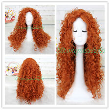 2013 Anime Movie Of Brave MERIDA Cosplay Wig CC43+a Wig Cap