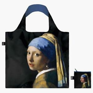 LOQI Tote Johannes Vermeer Girl with a Pearl Earring Reusable Canvas Travel Bag