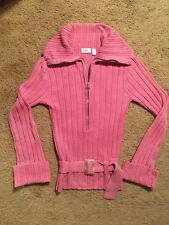 J LO BELTED COTTON SWEATER...SIZE MEDIUM