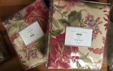 "Pottery Barn Set 2 Marla Drapes 50x 84"" Curtain Pair Floral Pole Pocket New"