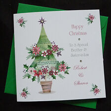 PERSONALISED Handmade CHRISTMAS CARD -  Christmas Tree - (x610)