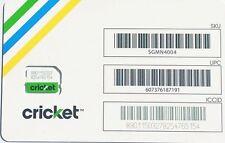 New Cricket 4G LTE Nano Sim Card Good For Activation SKU: SGMN4004