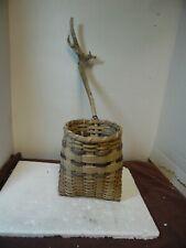 """The Tall Tale Driftwood Wall Basket Tofi Mn 6 x 9 wood 14"""""""