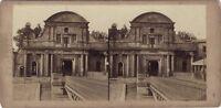 Porta Da Bayonne Pyrenees Foto Stereo Vintage Albumina c1860