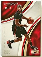 2016-17 Immaculate Chris Paul Base #'d 9/99 Clippers Rockets Thunder Wake Forest